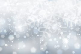 Silver blue snowflake wallpaper